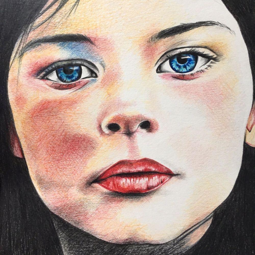 Dessin - 29,7 x 29,7 - Crayon de couleur